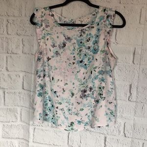 LC LAUREN CONRAD SLEEVELESS BLOUSE SIZE MEDIUM